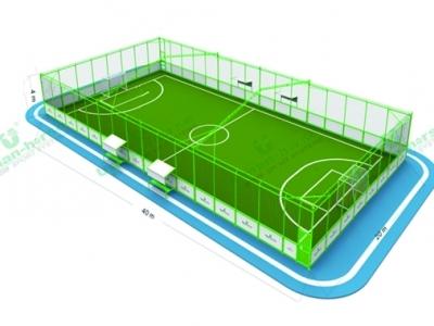 淄博笼式足球场